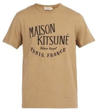MAISON KITSUNÉ Palais Royal Flocked Cotton T Shirt - Mens - Beige