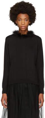 Simone Rocha Black Marabou Sweater