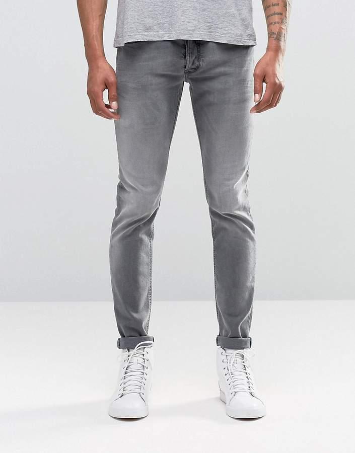 DieselDiesel Sleenker Skinny Jeans 674T Light Gray