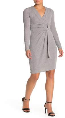 Modern American Designer Sparklet Knit Bar Tab Dress