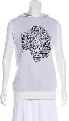 Baja East Intarsia Hooded Sweatshirt