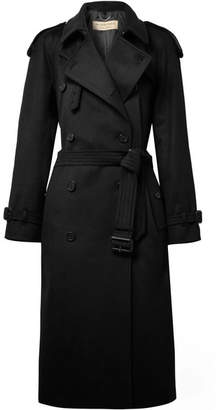 Burberry The Eastheath Cashmere Trench Coat - Black