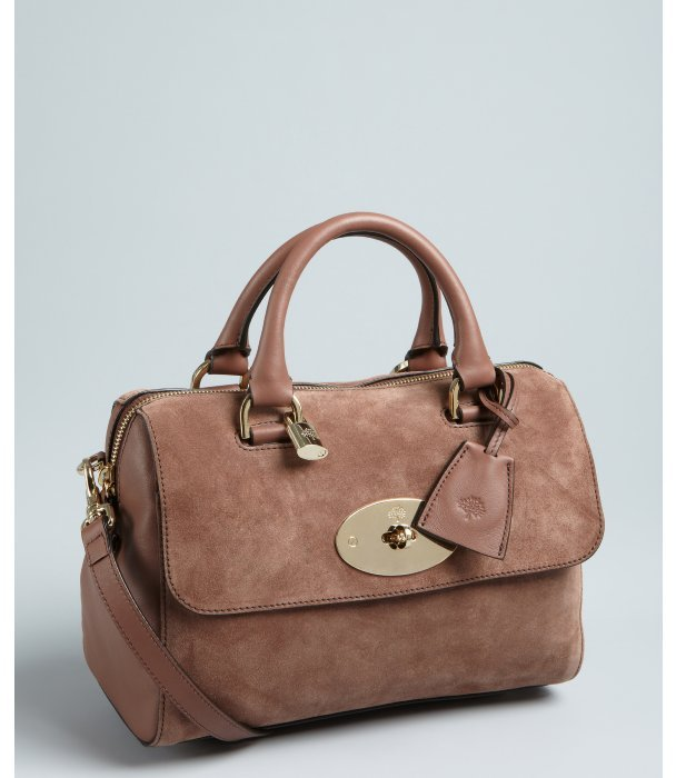 Mulberry milk chocolate brushed leather 'Del Rey' small top handle bag