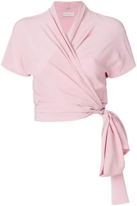 Etro wrap-front blouse