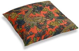 Loom Decor Simple Floor Pillow Ming Dragon - Persimmon