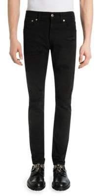 Alexander McQueen Antracite Shredded Slim-Fit Jeans
