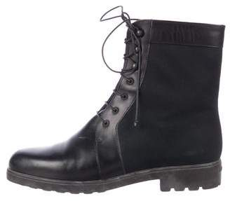 Salvatore Ferragamo Leather Lace-Up Boots