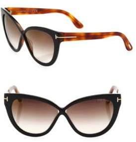Tom Ford Arabella 59MM Mirrored Cat Eye Sunglasses