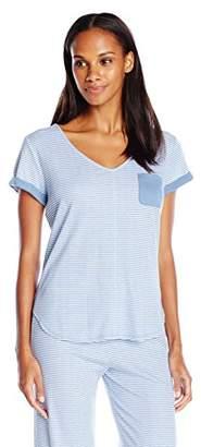 Karen Neuburger Women's Short Sleeve T-Shirt Pajama Top PJ