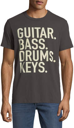 Chaser Men's Guitar Bass Slogan Tee