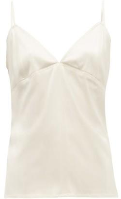 Bottega Veneta V Neck Silk Cami Top - Womens - Ivory