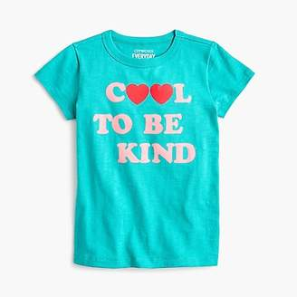 "J.Crew Girls' ""cool to be kind"" T-shirt"
