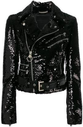 Philipp Plein sequin biker jacket