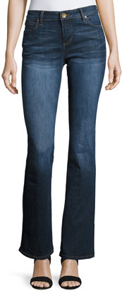 Kut from the Kloth Natalie Kurvy Boot-Cut Jeans, Blue $69 thestylecure.com