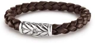 David Yurman Chevron Rubber Weave Bracelet In Black, 8Mm