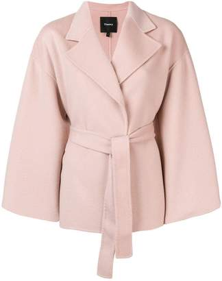 Theory double-breasted robe coat