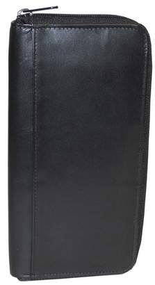 Buxton Regatta Leather Zipper Passport Case