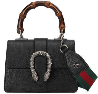 Gucci Dionysus Mini Leather Bamboo-Handle Bag