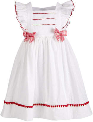fd3f0efc7 Bonnie Jean Little Girls Eyelet Pinafore Dress