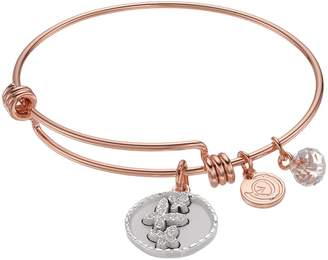 """Love This Life love this life Crystal """"Good Friends"""" Butterfly Charm Bangle Bracelet"""