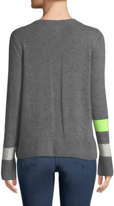 Neiman Marcus Lisa Todd Plus Size Sneak Peek Cashmere Sweater w/ Peekaboo Side Zipper