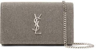 Saint Laurent Textured-lamé Shoulder Bag