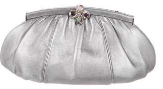 Judith Leiber Metallic Leather Convertible Clutch
