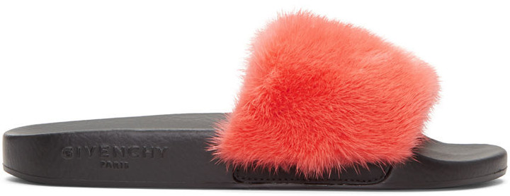Givenchy Pink Mink Beach Slide Sandals