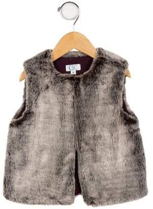 C de C Girls' Faux Fur Vest