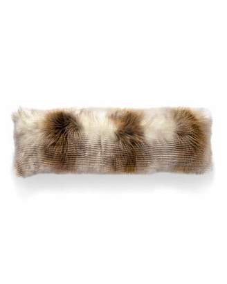 dv Kap Home Two-Tone Llama Faux-Fur Bolster Pillow