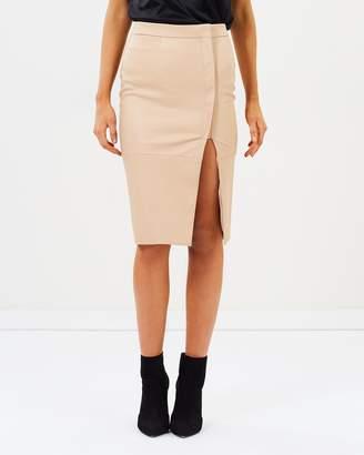 Bardot Dee Wrap Midi Skirt