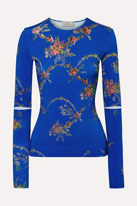 Preen by Thornton Bregazzi Floral-print Stretch-jersey Top