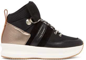 See by Chloe Nicole Leather And Mesh High Top Trainers - Womens - Black Multi