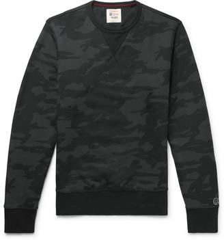 Todd Snyder + Champion Champion - Camouflage-Print Loopback Cotton-Jersey Sweatshirt - Men - Black