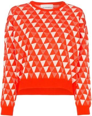 Rudi Gernreich Geometric print cotton blend jumper