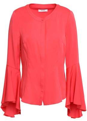 Milly Michelle Silk-Blend Crepe De Chine Top