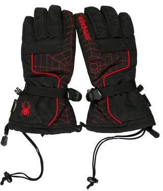 Spyder Leather-Trimmed Embroidered Gloves