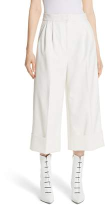 Tibi Anson Stretch Cuffed Tuxedo Pants