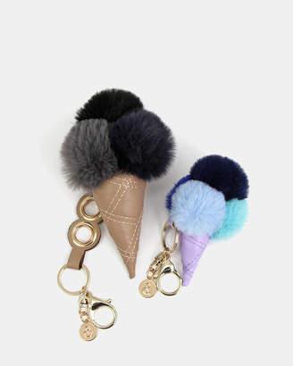 Belle & Bloom Faux Fur Gelato Key Ring 2 Pack