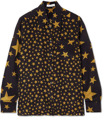 Bella Freud Little Prince Printed Silk Shirt - Black