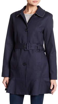 Kate Spade Tulip Hem Trench Coat