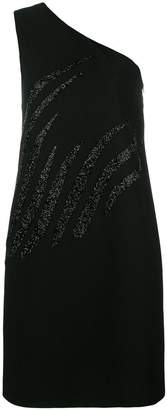 Victoria Beckham Victoria one shoulder glitter dress