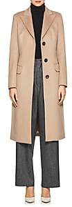 Xo Barneys Colombo Women's Cashmere Melton Three-Button Coat - Camel