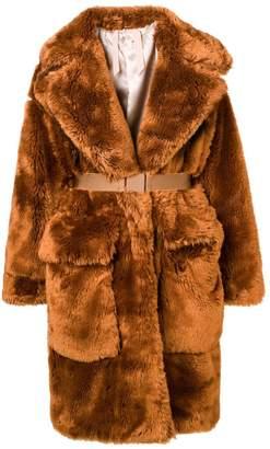 No.21 faux fur long coat