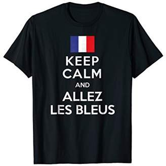 France World Team Cup KEEP CALM AND ALLEZ LES BLEUS T-Shirt