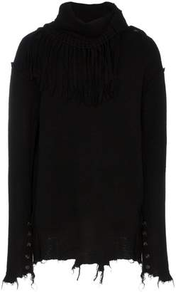 Bed J.W. Ford fringe neck wool jumper