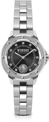Versace Versus South Horizons Crystal Stainless Steel Women's Bracelet Watch w/Black Dial