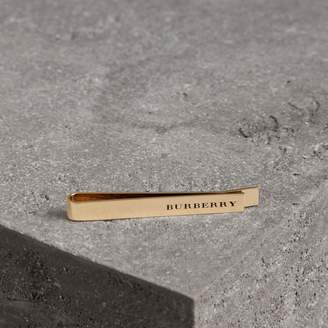 Burberry Engraved Bronze Tie Bar