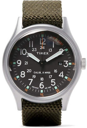 Timex Camper Mk1 Stainless Steel And Nylon-Webbing Watch