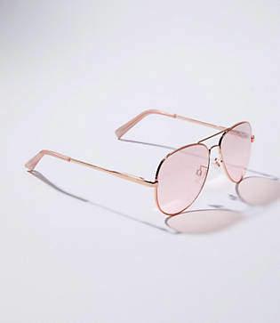 LOFT Mirrored Aviator Sunglasses